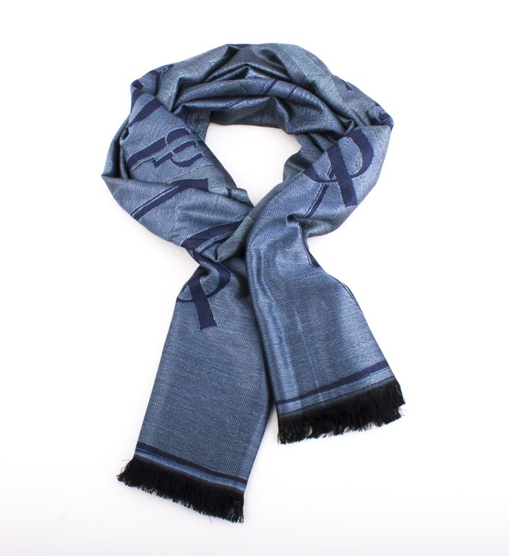 Silk Square Scarf - Blue Pearl Blue sky by VIDA VIDA