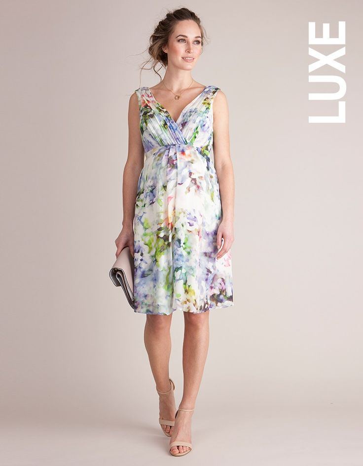 Floral Silk Maternity Cocktail Dress from seraphine