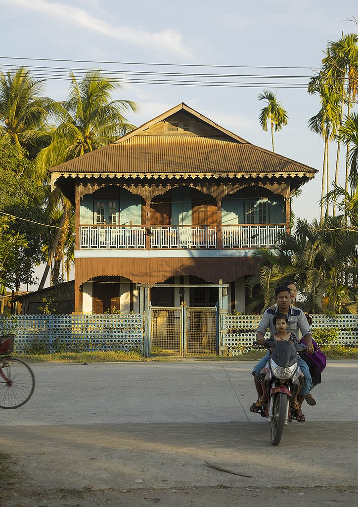 Old Colonial House, Sittwe, Myanmar | by Eric Lafforgue