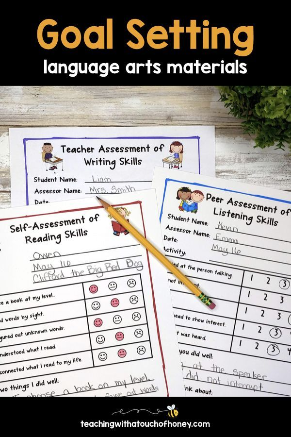Teach Goal Setting To Your First Second Third Grade Home