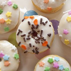 Much more healthy than fried donuts and a great treat to bake with children