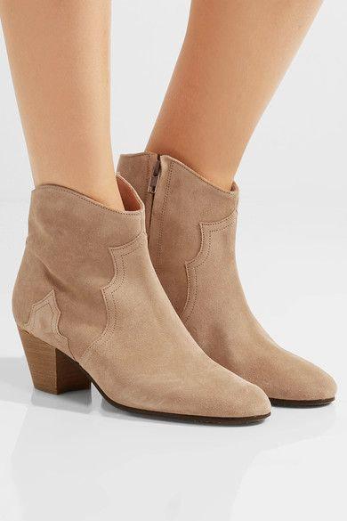 Heel measures approximately 55mm/ 2 inches Beige suede Zip fastening along side Made in France