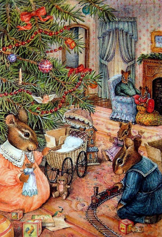 картинки уютные новогодние старинные что
