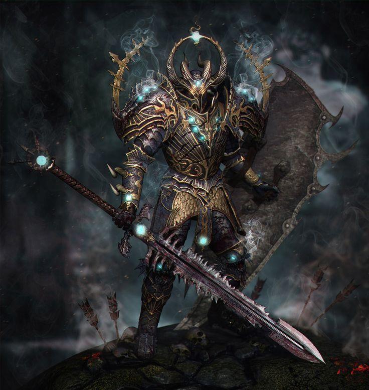 Tzeentch Knight - 3D Warhammer Art by Taras Skorobruh ...  Tzeentch Knight...