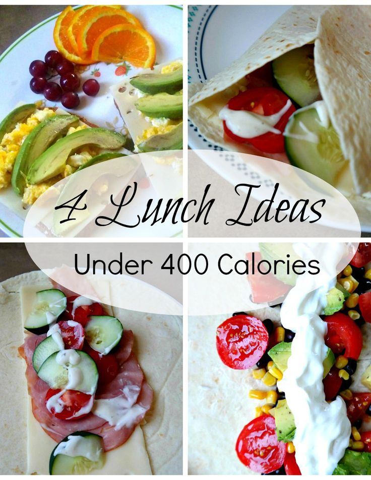 4 Lunch Ideas that will help you get back into shape without going hungry! Lunch Ideas under 400 calories each!