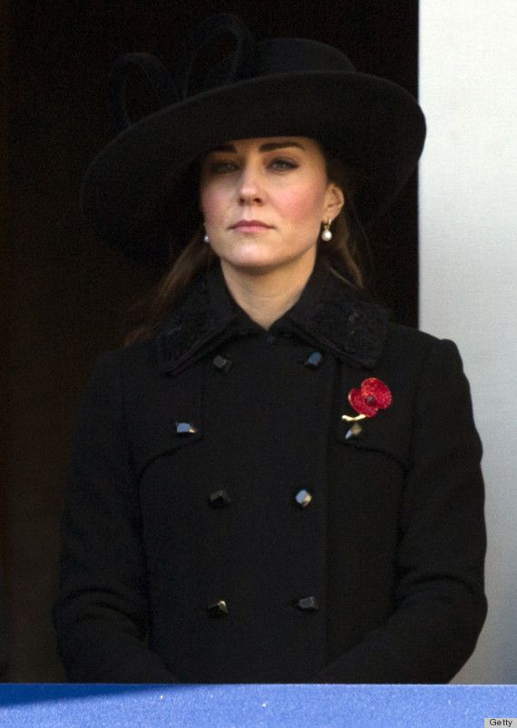 kate middleton at remembrance day ceremony wearing a military style outfit ...Nov. 2012
