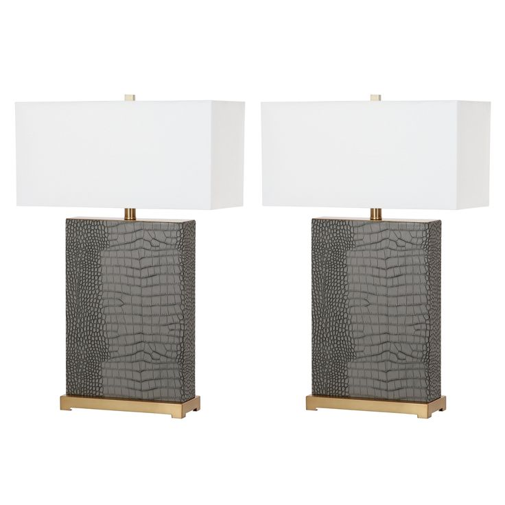 Safavieh Lighting Joyce 27.75-Inch Faux Alligator Table Lamp (Set of 2) | Overstock.com Shopping - The Best Deals on Lamp Sets