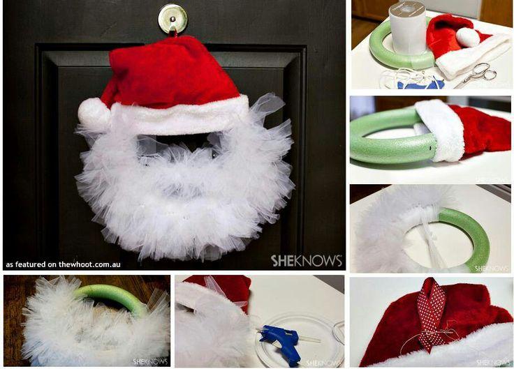 Santa wreath | Jul | Pinterest | Dagis, Roligt och Inspiration - photo#26