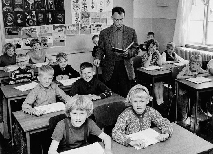 Ole Lund Kirkegaard at Oue school, where he was teacher, then headmaster