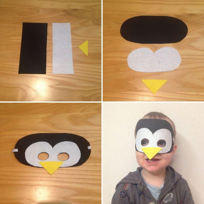 DIY - tuto masque feutrine pingouin