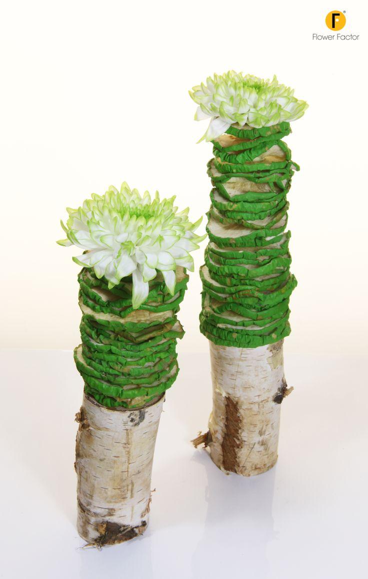 Design with #chrysanthemum #ZemblaLime made by Pim van den Akker (Photo: FlowerFactor)