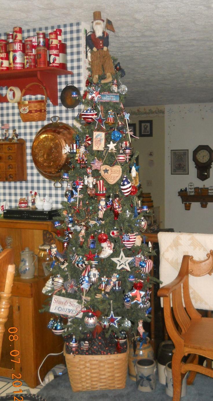 Americana christmas ornaments - Fourth Of July Americana