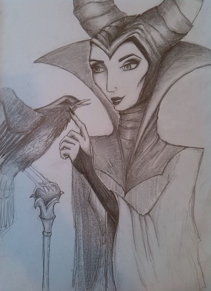 Disneys Maleficent Pencil Sketch |Drawn by Kate Winsley|