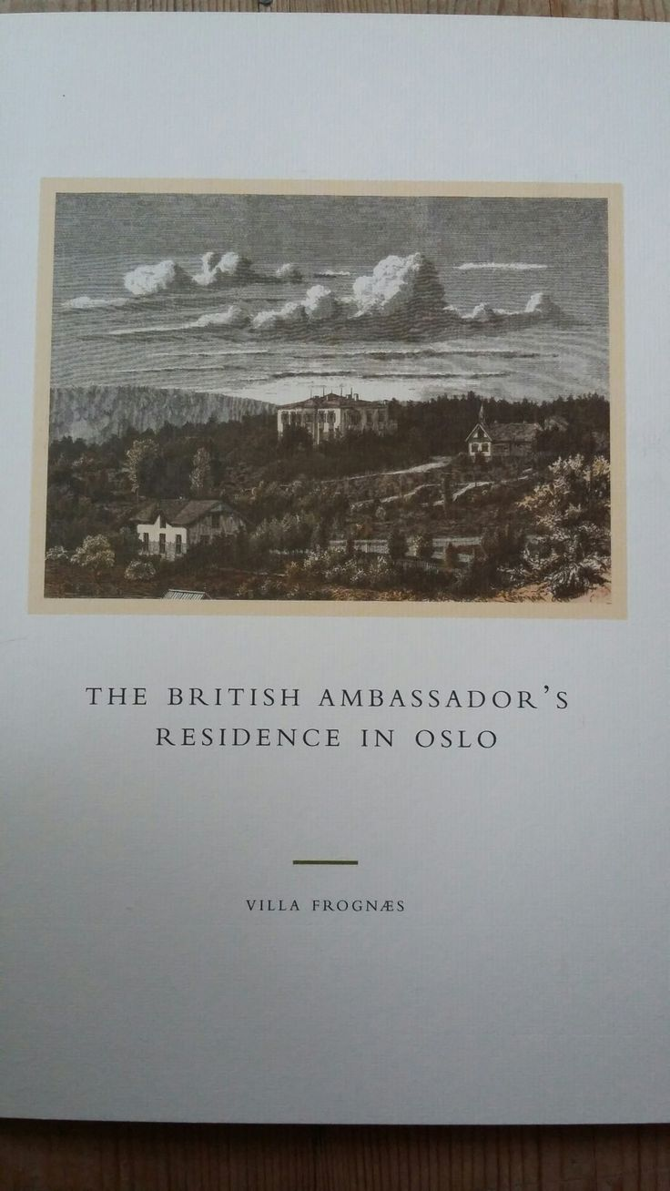 The British ambassador's residence in Oslo - Villa Frognæs av Stephan Tschudi-Madsen (ISBN: 8299596505, 9788299596503)