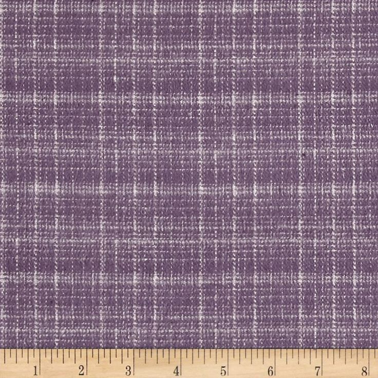 Marcus Primo Plaids Hash Check Plum from @fabricdotcom  From Marcus Brothers, this double-napped, medium weight (7.3oz), yarn-dyed flannel takes a more abstract approach to plaid. It's perfect for quilting, apparel and home decor accents. Colors include purple and cream.