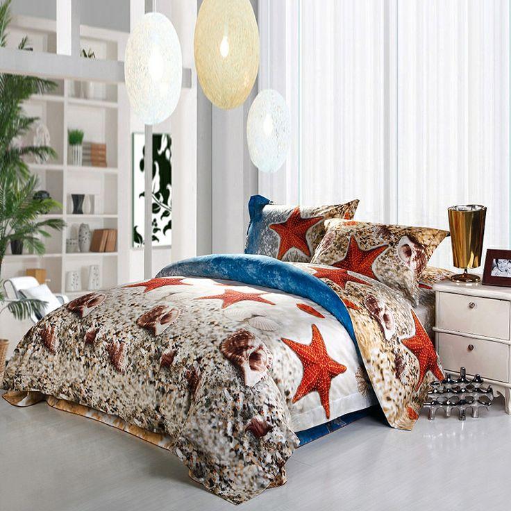 sea shell print coastal living bedding sets