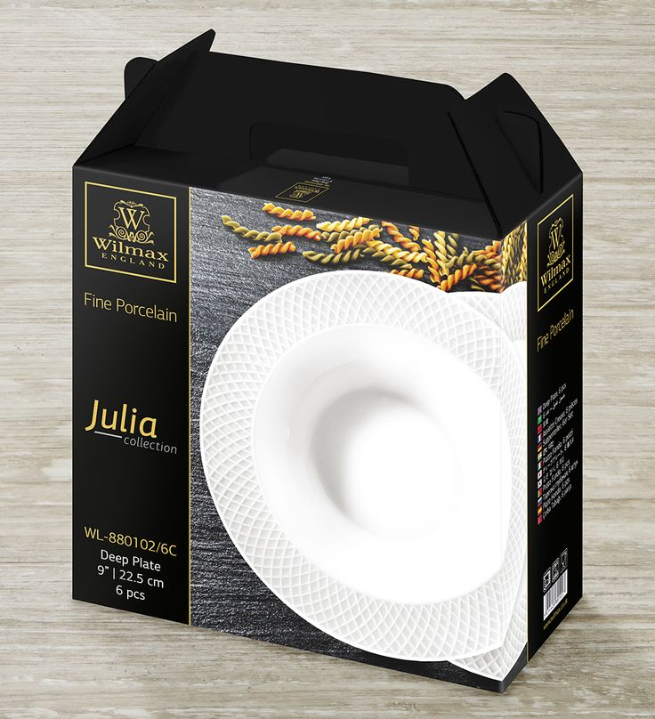 JULIA COLLECTION BY WILMAX Deep plates, set of 6 Serving first course is a special part of a delicious dinner in every single family. There is something special in this tradition – good soup brings everyone together around a table and melts the hearts!
