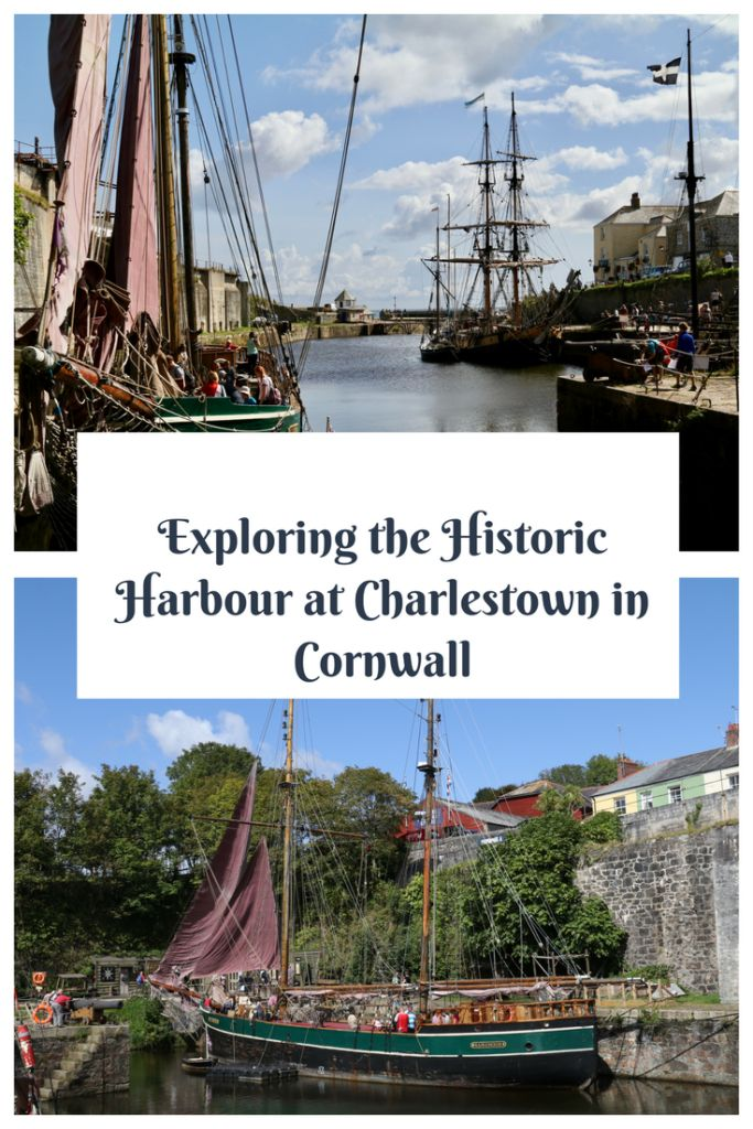 Exploring the Historic Harbour at Charlestown in Cornwall. Fun days out with kids in the UK.