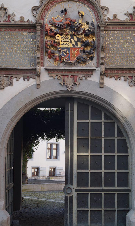 Tor zum Innenhof vom Willhemsstift in Tübingen