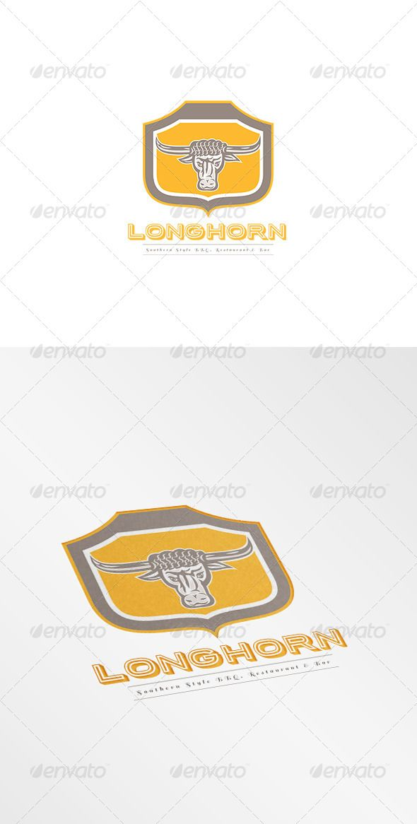 Longhorn Southern Style Restaurant  Logo Design Template Vector #logotype Download it here: http://graphicriver.net/item/longhorn-southern-style-restaurant-logo/8494254?s_rank=721?ref=nexion