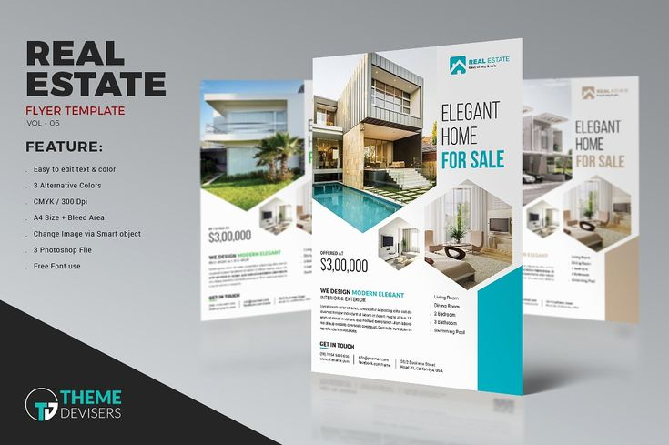 Real Estate Business Flyer Template by ThemeDevisers on @creativemarket