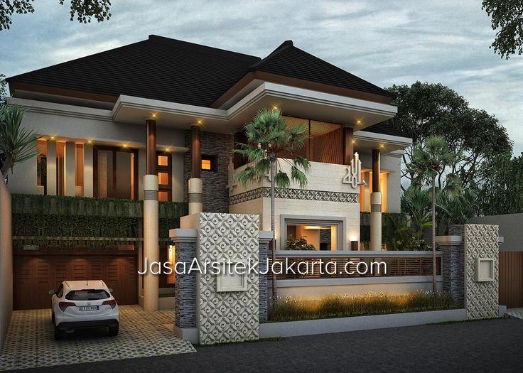 Desain rumah megah double facade luas 570 m2