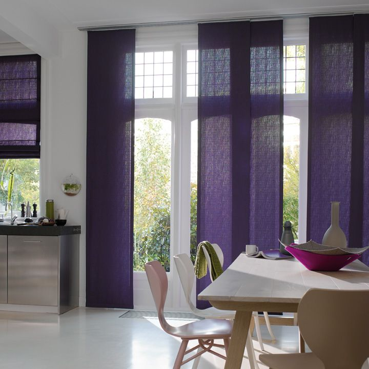 Floor to ceiling panel track blinds add style and colour for Best blinds for floor to ceiling windows