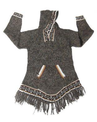Grauer Damen #Kapuzen #Sweater aus #Alpakawolle, Inka Design. Feinste Alpakawolle gibt Ihnen ein wohlig warmes und kuschlig weiches Tragegefühl.