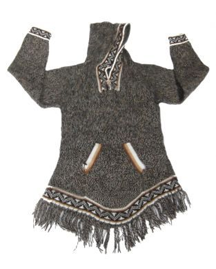 grauer damen kapuzen sweater aus alpakawolle inka. Black Bedroom Furniture Sets. Home Design Ideas