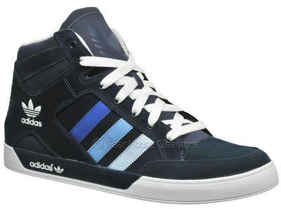 Adidas Originals Hard Court HI Mens Basketball Shoes (NEW) Navy Blue Size 12