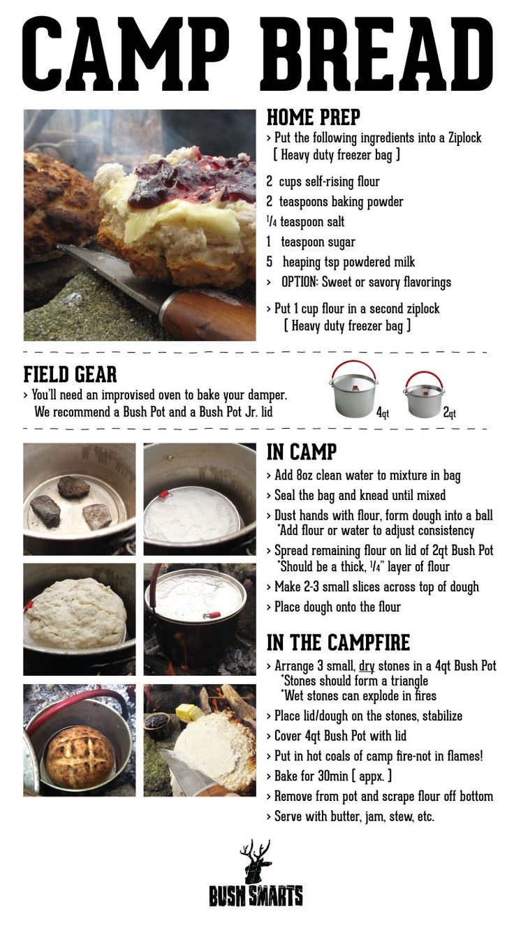Camp Bread Pan De Campamento Camping Food Comida De