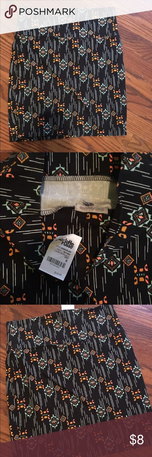 NWT Aztec print skirt Mini skirt in Aztec print. Great for summer or tropical vacation. Never worn. Charlotte Russe Skirts Mini