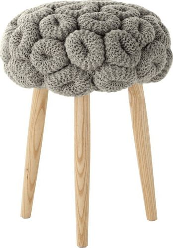 'Knitted Rings Grey Stool by Gandia Blasco. @2Modern'