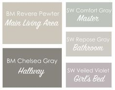 Revere Pewter Coordinating Paint Colors - This Bold Home
