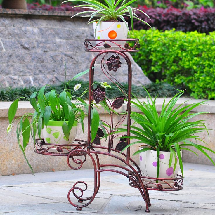 small metal flower stand Wrought iron stand metal plant stand for home&garden