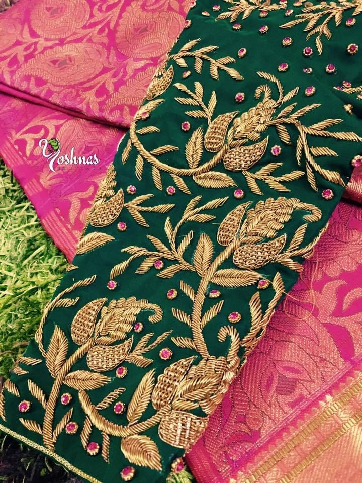 When we head to the stores to shop for bridal sarees, we always look for the best. The best saree that suits our style, taste and budget. What we fail to remember is that the blouse plays an equal if not greater role in making the bride look pretty on her wedding day. There are a wide variety of designs and patterns that you can try incorporating into your wedding ensemble. Check some of them here, designed to perfection by Yoshnas!