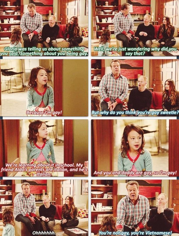Lily thinks she's gay lol Modern Family