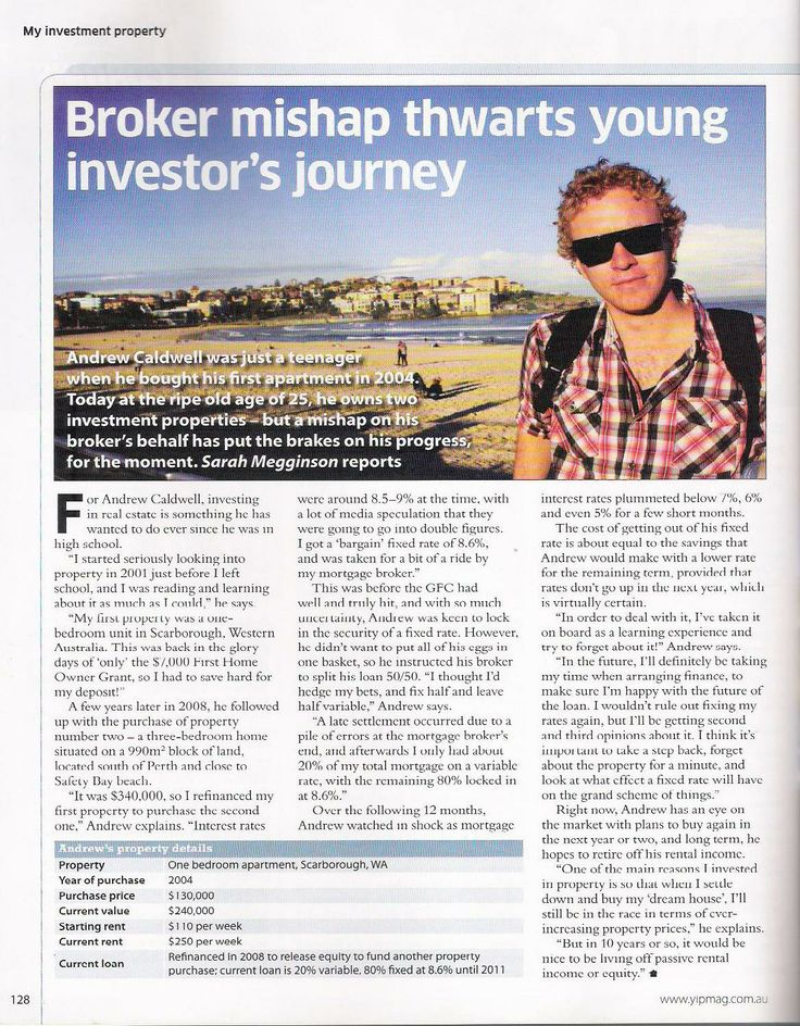 My Investment Property magazine - Young investor's journey, by Sarah.