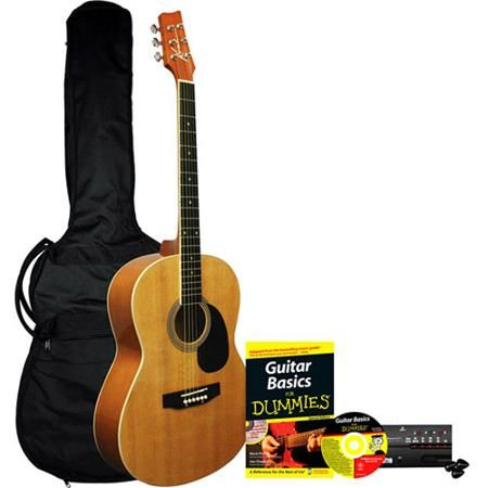 Acoustic Guitar for Dummies Bundle: Kona Acoustic Guitar, Accessories, Instructional Book & CD - Christmas Present