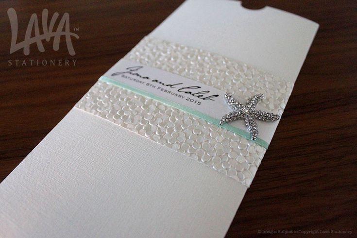 DL Pocket wedding invitation by www.lavastationery.com.au