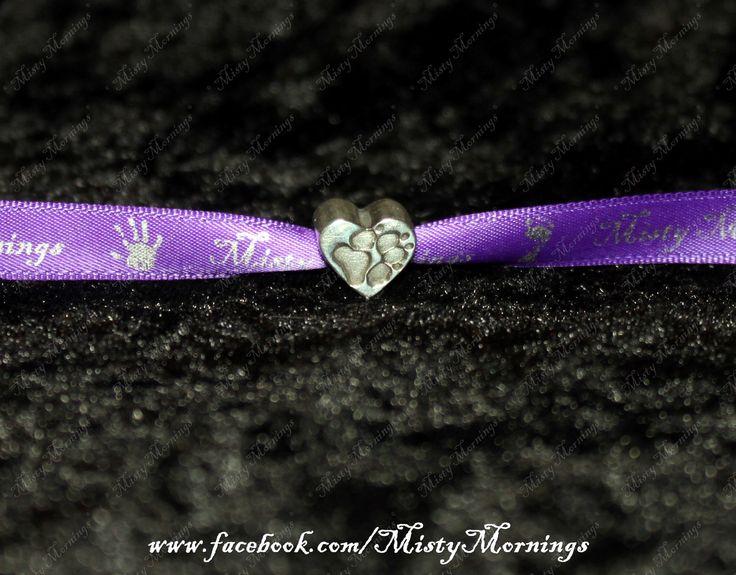 personalised fine silver charm Handprint, Footprint, Fingerprint, Paww Print www.facebook.com/MistyMornings