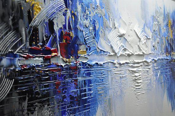 Original pintura abstracta, pintura moderna textura, empastes paisaje texturado espátula pintura moderna, pintura sobre lienzo byChen Tamaño: 24 x48 x1.2 [60x120x3cm] Estirar espesor: 1.2(3cm) Enmarcado / estirar (aliste para colgar) Las partes están libres de grapas y son pintados de negro. Está listo para colgar. Detalles de pago: preferimos paypal Recuerde dejar su número de teléfono en el campo de notas Envío y embalaje a cargo: Por EMS a todo el mundo Paquetes serán enviados hacia...