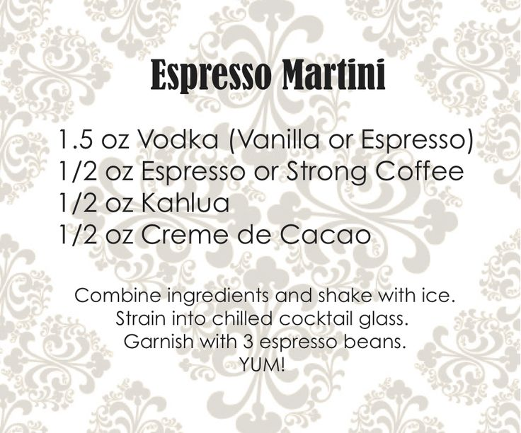 Yum! I'm sure you can use Patron Espresso tequila instead of actual espresso.