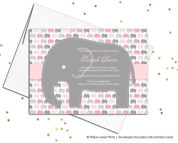 17 best Elephant baby shower invitations images on Pinterest - how to make a baby shower invitation on microsoft word