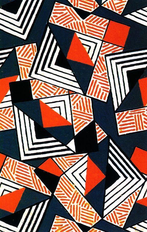 Design For Textile France 1924 Geometric Art Prints Geometric