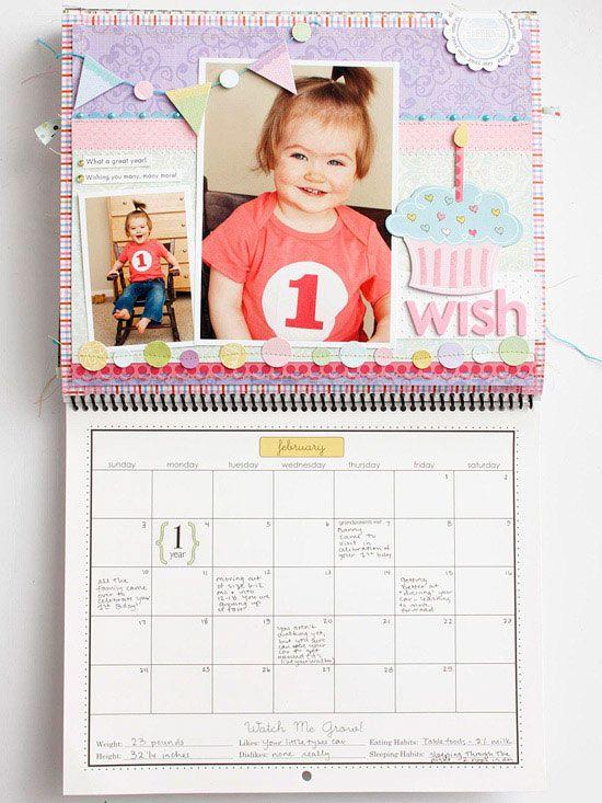 Baby Photo Calendar Ideas : Best scrapbook baby mini albums images on pinterest