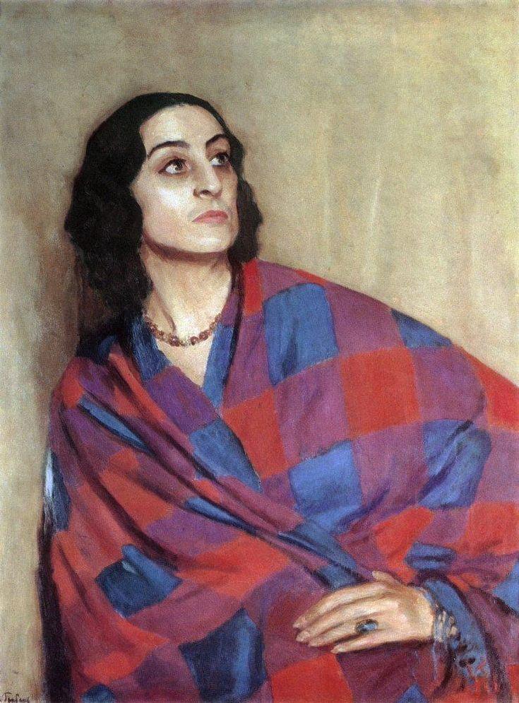 Игорь Эммануилович Грабарь (1871-1960) - Портрет Никулиной-Волконской, 1935