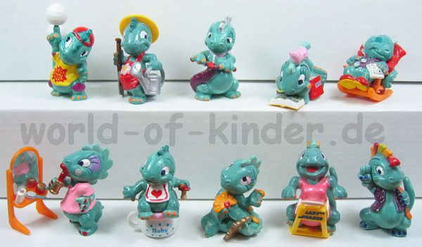 Les jouets kinder : les dinos