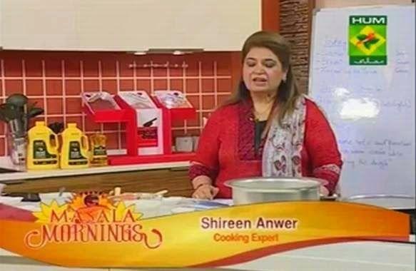 Masala Morning Shireen Anwar - Kachay Gosht Ki Biryani, Hyderabadi Laal Chicken, Achari Maccaroni & Sivayyon Ki Kheer Recipe on Masala Tv - 3rd October 2014   Apna Food Tv