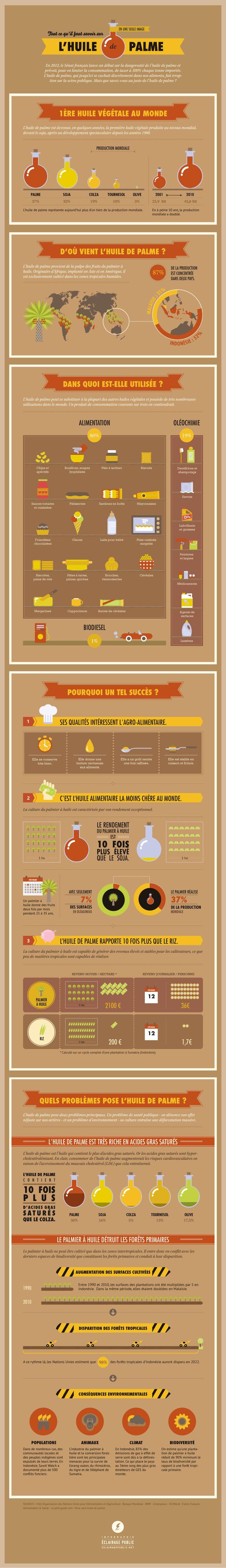 Tout ce qu'il faut savoir sur l'huile de palme © Infographie ÉCLAIRAGE PUBLIC…